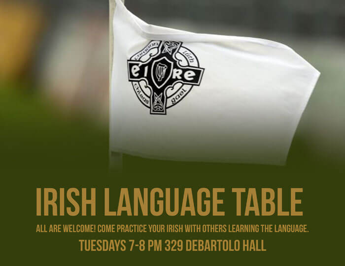 Irish Language Table Poster3